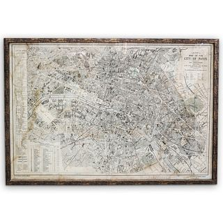 """Restoration Hardware"" Vintage Parisian Map"
