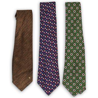 (3 Pcs) Chanel Silk Necktie Group