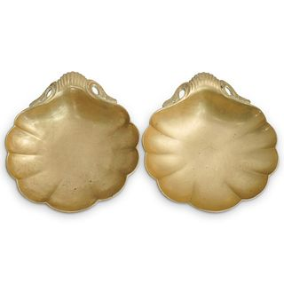 Pair Of Dore Bronze Shell Dishes