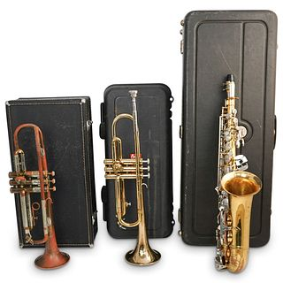 (3Pc) Vintage Instrument Grouping