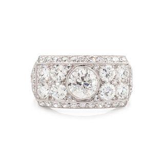 ART DECO, DIAMOND RING
