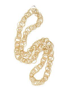BUCCELLATI, YELLOW GOLD 'HAWAII' NECKLACE