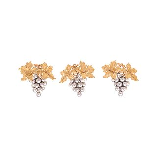BUCCELLATI, COLLECTION OF TRICOLOR GOLD EARCLIPS