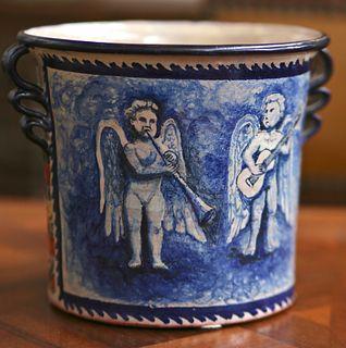 Musical Angels Flower Pot