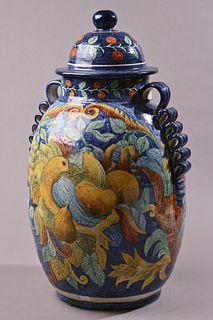Tall Vase with Ribbon handles