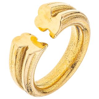 RING IN 18K YELLOW GOLD, TOUS Weight: 3.0 g. Size: 6 ½