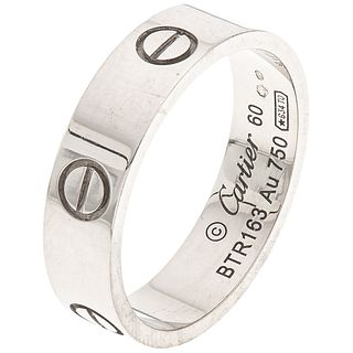 RING IN 18K WHITE GOLD, CARTIER Weight: 7.0 g. Size: 9 ¼