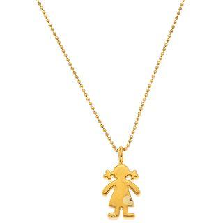 CHOKER IN 18K YELLOW GOLD, TOUS & PENDANT IN 14K YELLOW GOLD, TOUS Choker Weight: 4.8 g