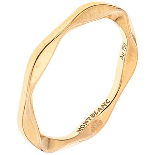 RING IN 18K PINK GOLD, MONTBLANC Weight: 3.0 g. Size: 6 ¾