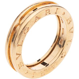 RING IN 18K YELLOW GOLD, BVLGARI, B.ZERO1 COLLECTION Weight: 7.5 g. Size: 6 ½