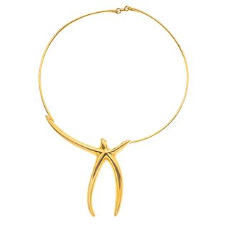 "CHOKER IN 18K YELLOW GOLD, TIFFANY & CO.  Weight: 48.9 g. Length: 15.3"" (39 cm)"