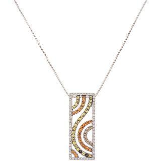 CHOKER WITH SEMI-PRECIOUS GEMS AND DIAMONDS IN 14K WHITE GOLD 45 Semi-precious gems and 69 Brilliant cut diamonds