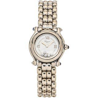 CHOPARD HAPPY SPORT LADY WATCH WITH DIAMONDS IN 18K WHITE GOLD REF. 4142  Movement: quartz. Weight: 112.7 g
