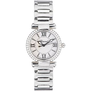 CHOPARD IMPERIALE LADY WATCH WITH DIAMONDS IN STEEL REF. 8541  Movement: quartz