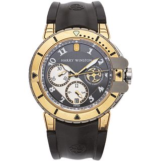 HARRY WINSTON OCEAN DIVER PROJECT Z CHRONOGRAPH WATCH IN ZALIUM AND 18K PINK GOLD REF. 410-MCA44RZ  Movement: automatic