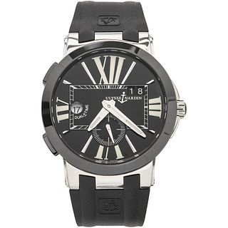 ULYSSE NARDIN DUAL TIME GMT WATCH IN STEEL AND TITANIUM REF. 243-00 Movement: automatic