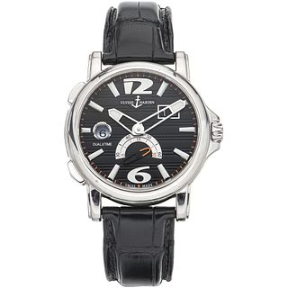 ULYSSE NARDIN DUAL TIME GMT WATCH IN STEEL REF. 243.55 Movement: automatic