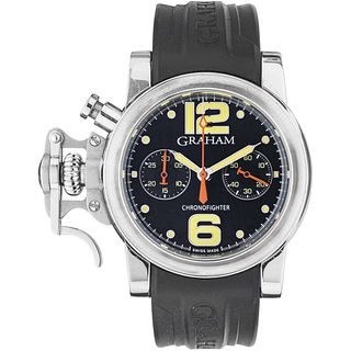 GRAHAM CHRONOFIGHTER EDITION TOURNEAU N°17/25 WATCH IN STEEL Movement: automatic