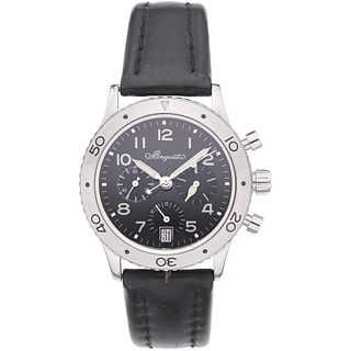 BREGUET TYPE XX CHRONOGRAPH WATCH IN STEEL REF. 3820  Movement: automatic