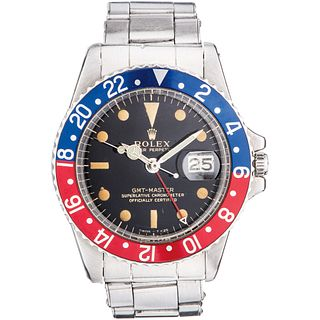 ROLEX OYSTER PERPETUAL GMT-MASTER WATCH IN STEEL REF. 1675, C.A. 1964 - 1965  Movement: automatic