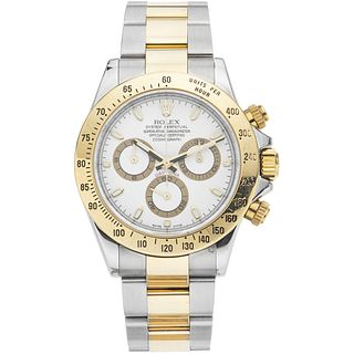 ROLEX OYSTER PERPETUAL COSMOGRAPH DAYTONA WATCH IN STEEL AND 18K YELLOW GOLD REF. 116523, CA. 2007 - 2008  Movement: automatic