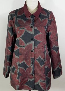 Black and Red Bold Maple Leaf Car Coat