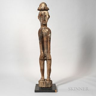 Kenyah-Kayan Dayak Hardwood Post Figure, Hampatong