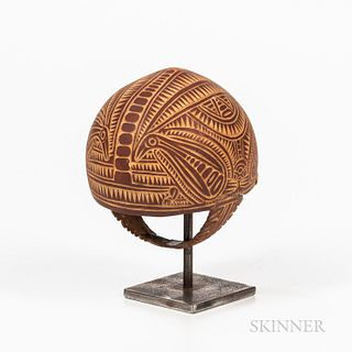 Carved New Guinea Coconut Cup