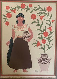Silk Screen Print Criolla de Costa Chica