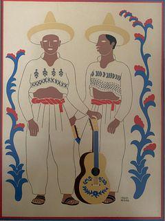 Carlos Merida Silk Screen Print