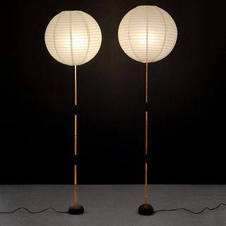 2 Floor Lamps Attr to Isamu Noguchi, Paige Rense Estate