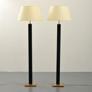 Pair of Karl Springer Floor Lamps, Paige Rense Noland Estate