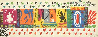 "Large Henri Matisse ""A Thousand..."" Lithograph, Paige Rense Noland Estate"