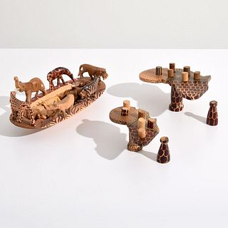 2 African Sculptures, Paige Rense Noland Estate