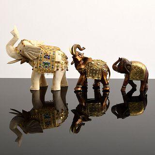 3 Elephant Sculptures, Paige Rense Noland Estate