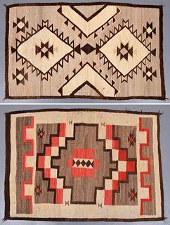 2 Native American Rugs, Paige Rense Noland Estate
