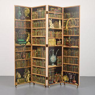 Piero Fornasetti 4-Panel Screen, Paige Rense Noland Estate