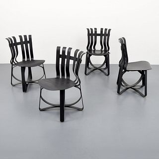 """4 Frank Gehry """"Hat Trick"""" Chairs, Paige Rense Noland Estate"""