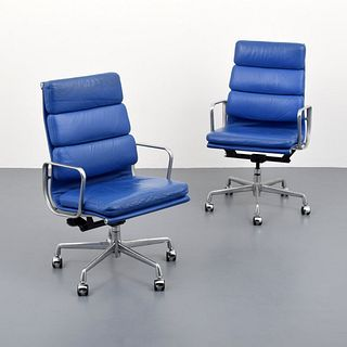 """2 Charles & Ray Eames """"Soft Pad"""" Chairs, Paige Rense Noland Estate"""