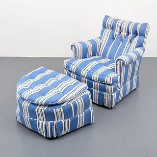 Club Chair & Ottoman, Paige Rense Noland Estate