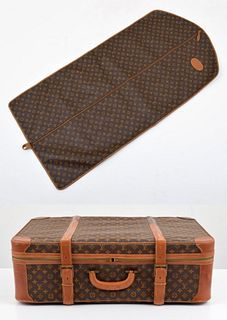 Louis Vuitton Garment Bag & Suitcase, Paige Rense Noland Estate
