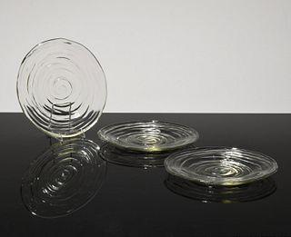 16 Plates, Manner of Steuben; Paige Rense Noland Estate