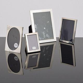 4 Sterling Silver Picture Frames, Paige Rense Noland Estate