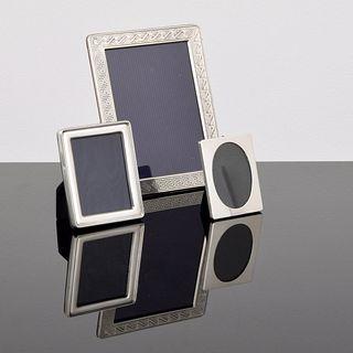 3 Picture Frames: Cartier, Gucci & Versace; Paige Rense Noland Estate