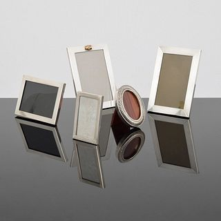 5 Tiffany Sterling Silver Picture Frames, Paige Rense Noland Estate