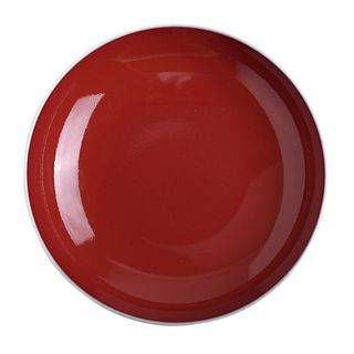 A SACRIFICIAL-RED-GLAZED DISH