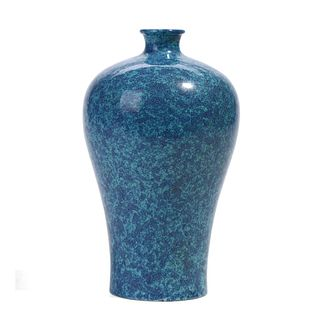 A CHINESE FLAMBE-GLAZED MEIPING