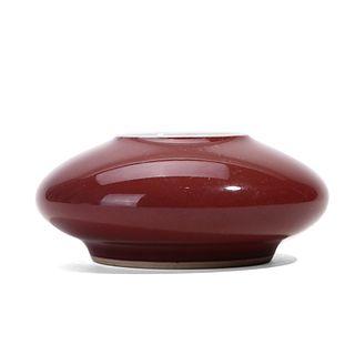 A SACRIFICIAL-RED-GLAZED WATERPOT