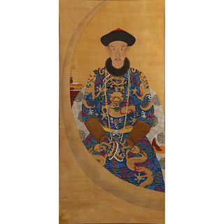 PORTRAIT OF A CHINESE DUKE ON SILK
