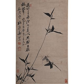 INK BAMBOO ON PAPER, ZHENG XIE